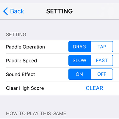 Segmentaiton Button on Setting Screen