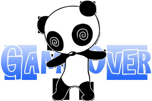 ゲームオーバーで目を回すウパンダ