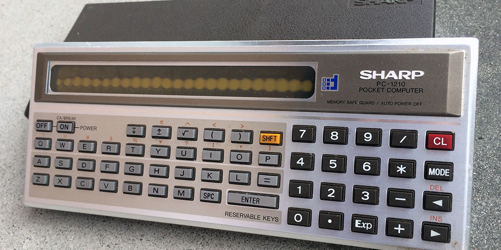 懐かしのポケコン シャープポケットコンピューターPC-1210