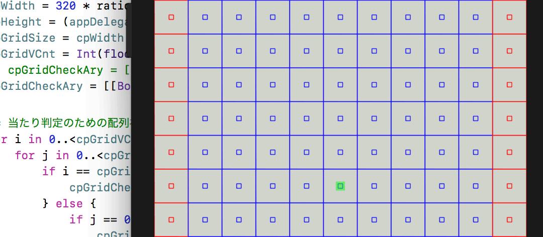 アプリあちこち食堂(仮題)に於ける多次元配列を可視化した開発画面